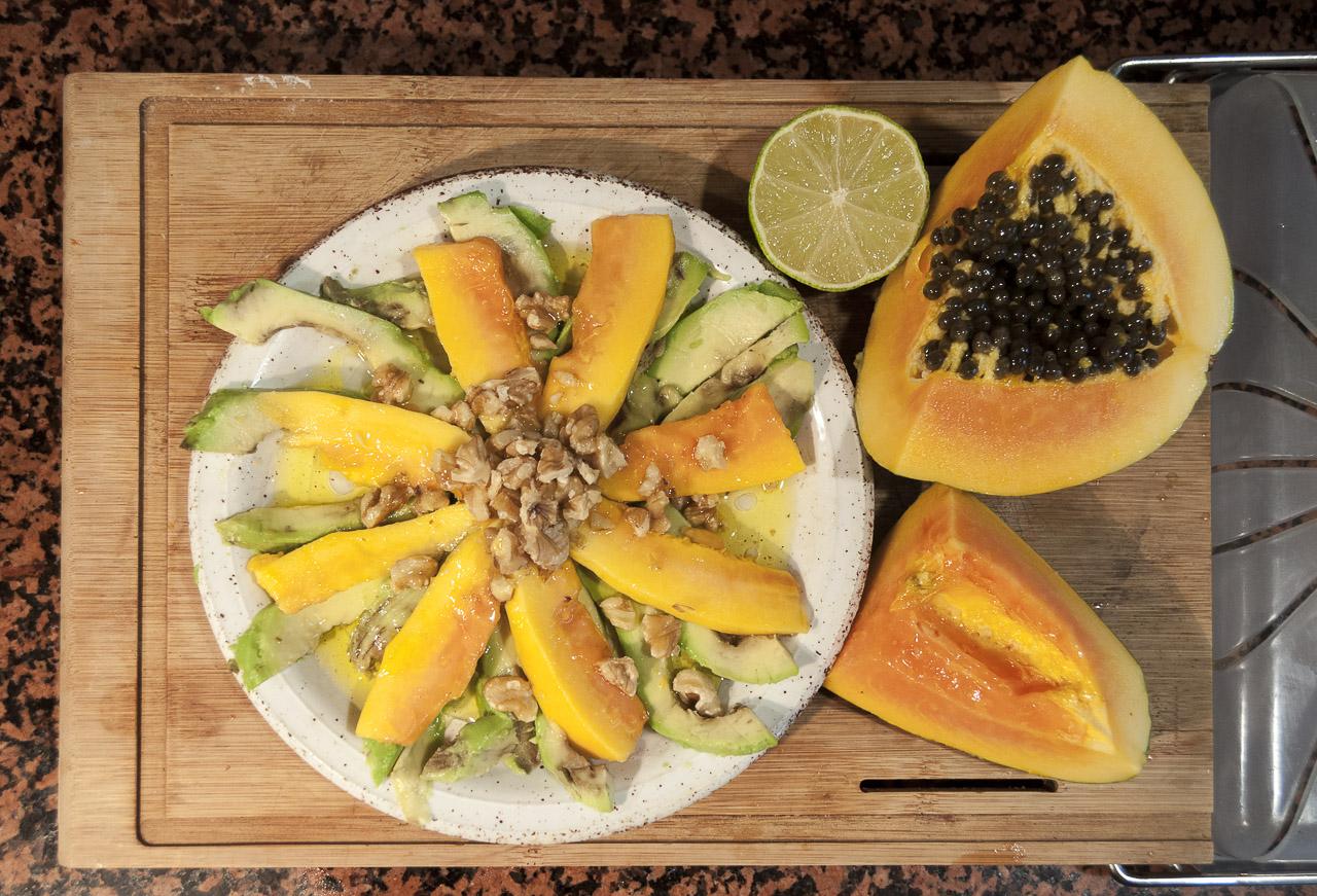 deliciosa receta de Aguacate y papaya